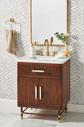 Deluxe Tamboured Powder Bathroom Vanity By Tracey Boyd in Brown Size ALL