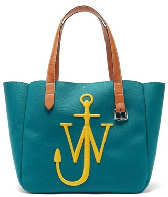 J.W.Anderson Belt Embroidered-anchor Canvas Tote Bag - Yellow Multi