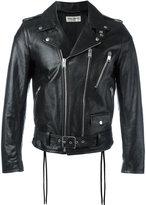 Saint Laurent signature motorcycle jacket - men - Cotton/Calf Leather/Cupro/Polycarbonite - 48