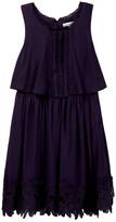 Ella Moss Kali Crochet Trim Dress (Big Girls)