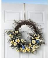 Spectrum Over The Door 1-Inch Satin Nickel Wreath Holder