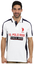 U.S. Polo Assn. Short Sleeve Multi Logo Pique Polo
