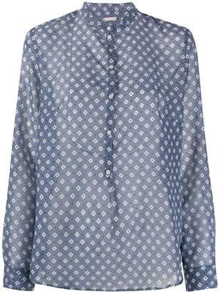 Massimo Alba Violet floral print blouse