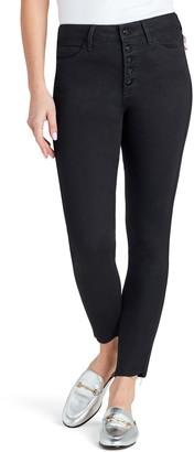 Sam Edelman The Stiletto High Waist Raw Hem Ankle Skinny Jeans