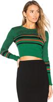 Diane von Furstenberg Cropped Sweater in Green