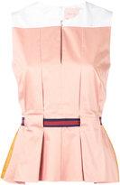Roksanda sleeveless belted blouse - women - Silk/Cotton/Spandex/Elastane - 8