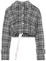 Off-White Cropped plaid jacket