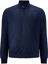 Fred Perry Tramline Tipped Bomber Jacket, Dark Navy