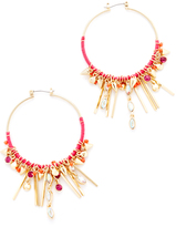 Rebecca Minkoff Gemma Charm Hoop Earrings