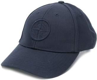 Stone Island logo embroidered cap