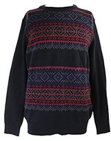 Nautica Men's 7GG Fair Isle Crewneck Sweater