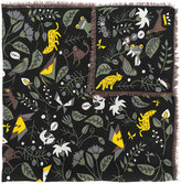 Fendi floral embroidered scarf
