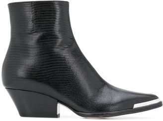 Sergio Rossi Textured Leather Boots