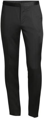 HUGO BOSS Hetons Virgin Wool & Silk Tuxedo Trousers