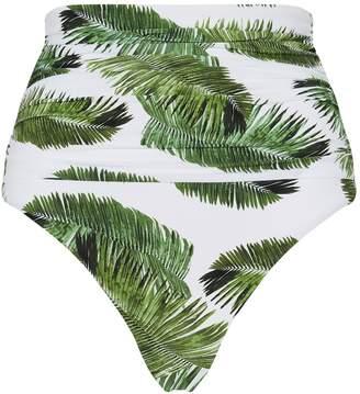 Melissa Odabash Caribe High-Waist Palm Tree Bikini Bottoms