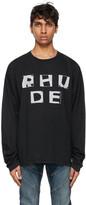 Rhude Black Haus Long Sleeve T-Shirt