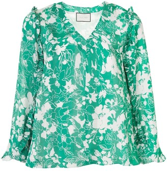 Alexis Idir floral blouse