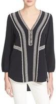 Veronica Beard Women's 'Loreto' Lace Detail Silk Top
