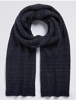 M&S Collection Fairisle Knitted Scarf