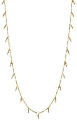 Sydney Evan 14k Yellow Gold & Diamond Small Fringe Necklace