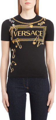 Versace Safety Pin Graphic Tee