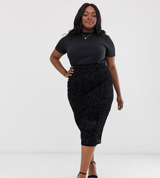 ELVI animal flock midi skirt
