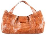 Nancy Gonzalez Small Crocodile Handle Bag
