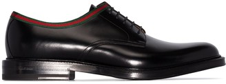 Gucci Beyond web-trimmed derby shoes