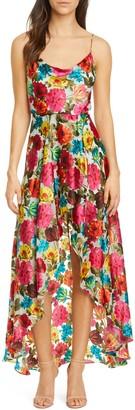 Alice + Olivia Christina Floral High/Low Dress