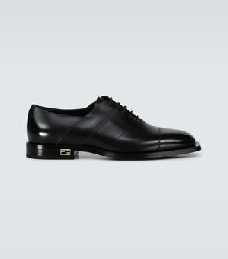 Fendi FF Baguette leather Oxford shoes