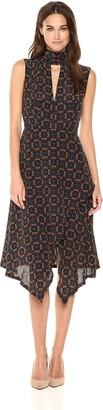 Tracy Reese Women's Kerchief Dress in Foulard Placement 4