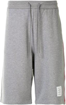 Thom Browne Signature Stripe track shorts