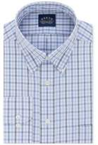 Eagle Men's Big & Tall Classic/Regular Fit Non-Iron Flex Collar Blue Check Dress Shirt