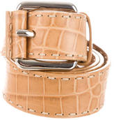Michael Kors Embossed Leather Waist Belt