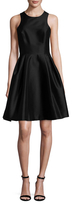 Monique Lhuillier Pleated Flare Dress