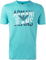 Armani Jeans logo print T-shirt - men - Cotton - S