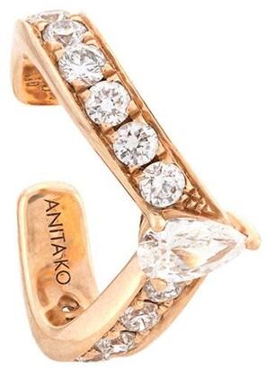 Anita Ko 18kt Rose Gold Curved Diamond Ear Cuff