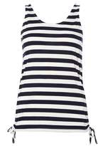 Dorothy Perkins Navy Stripe Ruched Side Tank Top
