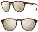 Shwood Men's 'Francis' 49Mm Sunglasses - Bourbon/ Elm/ Gold