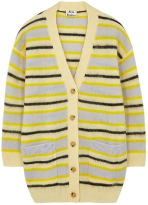 Acne Studios Keda striped fine-knit cardigan