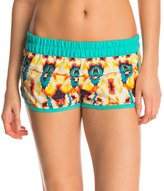 "Hurley Women's Supersuede Printed Kaleidoscope 2.5"" Beachrider Boardshort 8145646"
