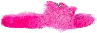 Chiara Ferragni Flirting Furry Slides