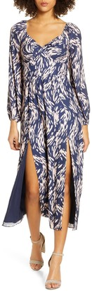Ali & Jay Art Snob Long Sleeve Print Dress