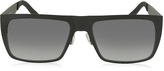 Marc Jacobs MARC 55/S 003HD Black Acetate Rectangular Men's Sunglasses