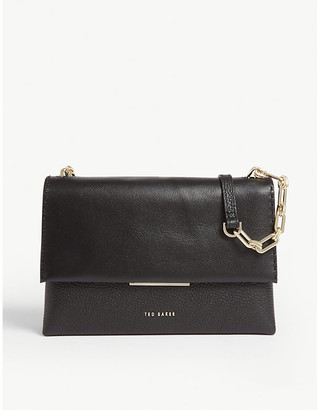Ted Baker Bar detail leather cross-body bag