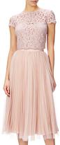 Adrianna Papell Petite Sunburst Pleat Tulle Skirt, Blush