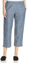 Eileen Fisher Petites Cropped Chambray Pants