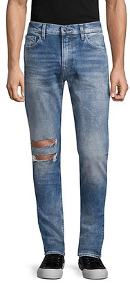 Hudson Distressed Skinny-Fit Jeans