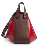 Loewe Small Hammock Leather Shoulder Bag - Red