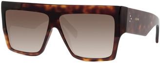 Celine Chunky Rectangle Acetate Sunglasses